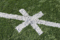 American Football Field With Cross Mark Stock Photography