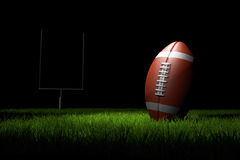 American Football on the Field. 3D illustration Stock Photography