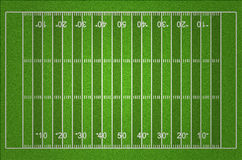 American Football Field with Dark and Light Grass Lines Royalty Free Stock Images