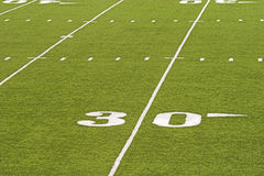 American Football Field Detail Stock Image