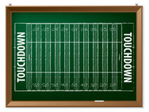 American football field drawn on chalkboard Stock Photography