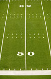 American Football Field Fifty Yard Line Stock Images