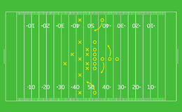 American Football field Stock Photography