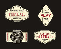 American football field geometric team or league. Badge, sport site logo, label, insignia set. Graphic vintage design for t-shirt, web. Colorful print  on a Royalty Free Stock Photos