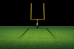 American football field goal post Stock Photos