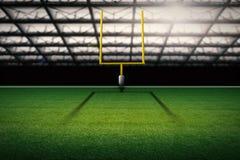 American football field goal post Stock Image