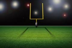 American football field goal post. 3d rendering american football field goal post Royalty Free Stock Image