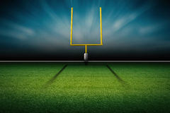 American football field goal post Stock Image