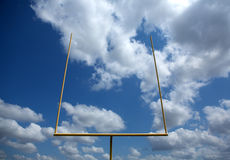 American Football Field Goal Posts Stock Images