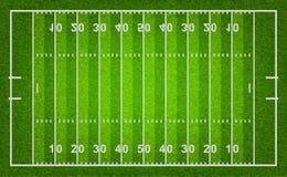 American football field. Royalty Free Stock Photo