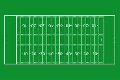 American football field. Green grass football court. Template background field for sport strategy and poster. Vector. American football field. Green grass Royalty Free Stock Images
