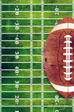 American Football and Field Grunge Background Royalty Free Stock Photo