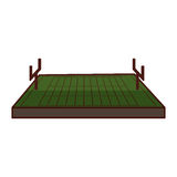 American football field icon Stock Images