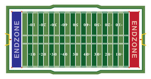 American Football Field Illustration Stock Photo