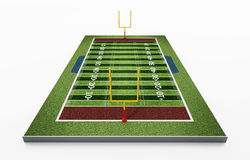 American football field isolated on white background. 3D illustration.  Stock Photography