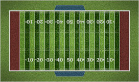American football field isolated on white background. 3D illustration Stock Photography