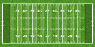 American Football Field Stock Image