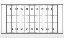 American football field markup. Outline of lines on an American football field. Vector illustration Stock Photography