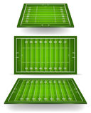 American football field with perspective Royalty Free Stock Image