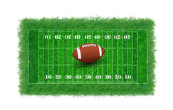 American football field with real grass textured,  Stock Images