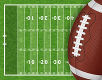 American Football Field. With Realistic Ball, Line and Grass Texture. Vector illustration vector illustration