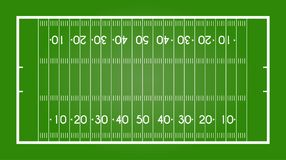 American football field. Rugby. Vector illustration Royalty Free Stock Images