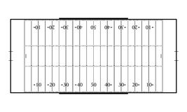 American football field. Sport background. Line art style.  Royalty Free Stock Photos