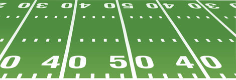 American football field. 40th and 50 yard Stock Images