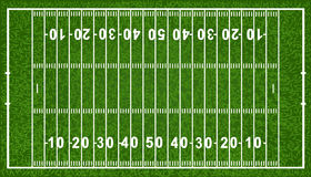 American Football Field. Vector