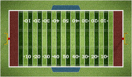 American football field  on white background. 3D illustration Royalty Free Stock Photography