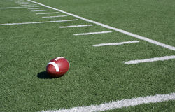American Football Field Yard Lines Stock Photography