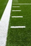 American Football Field Yard Lines Royalty Free Stock Photography