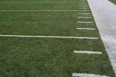 American football field yardlines Royalty Free Stock Photo