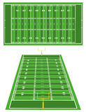 American Football fields Royalty Free Stock Photography