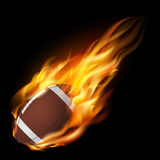 American football in the fire. Stock Photo