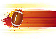 american football with flames Royalty Free Stock Image