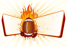 American football with flames Royalty Free Stock Photos