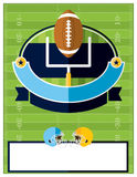 American Football Flyer Illustration Royalty Free Stock Image