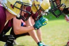American football game - attack in progress Stock Photos