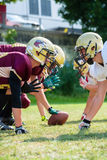 American football game - attack in progress Royalty Free Stock Images