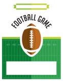 American Football Game Flyer Illustration Royalty Free Stock Photos