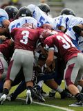 American football game - gang tackle Royalty Free Stock Photos