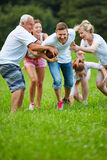 American football game in summer Stock Images