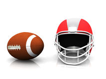 American football gear. Stock Images