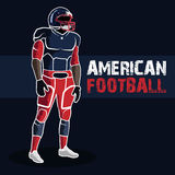 American Football. Gear an athlete, healthy lifestyle Royalty Free Stock Photos