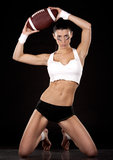 American football girl Stock Photography