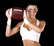 American football girl Royalty Free Stock Photo