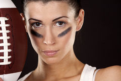American football girl Stock Photography