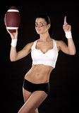 American football girl Stock Image