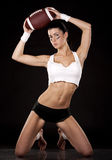 American football girl Stock Images